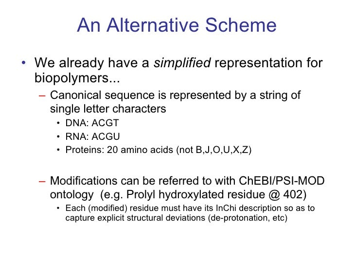 <ul><li>We already have a  simplified  representation for biopolymers...  </li></ul><ul><ul><li>Canonical sequence is repr...