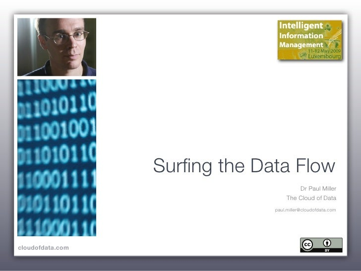 Surfing the Data Flow                                         Dr Paul Miller                                     The Cloud ...