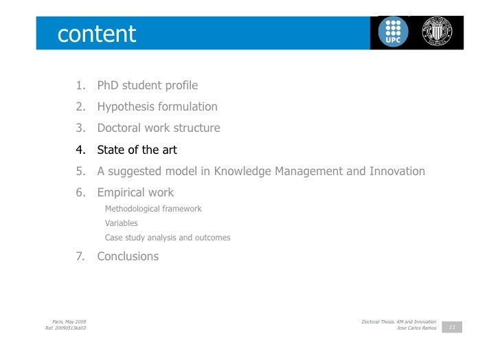 Phd knowledge management thesis