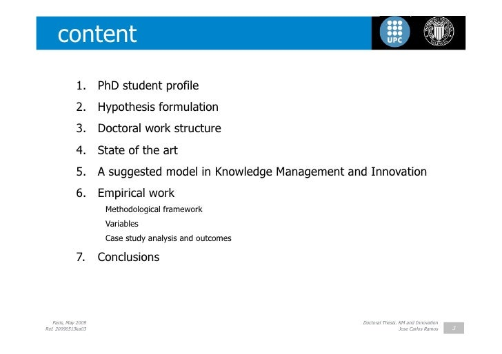 innovation management dissertation topics