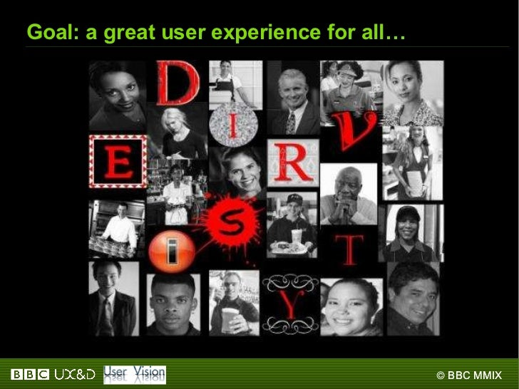 Goal: a great user experience for all…
