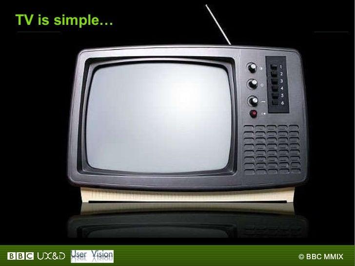 TV is simple…