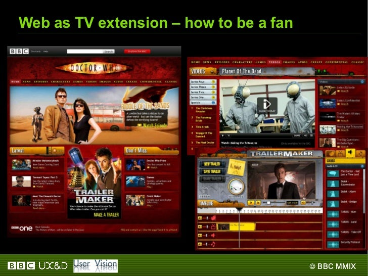 Web as TV extension – how to be a fan