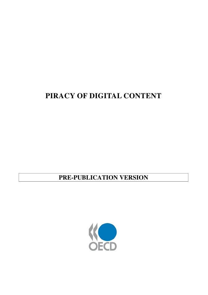 PIRACY OF DIGITAL CONTENT       PRE-PUBLICATION VERSION