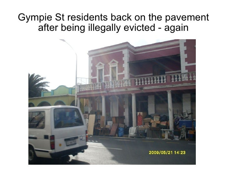 Gympie St residents back on the pavement    after being illegally evicted - again