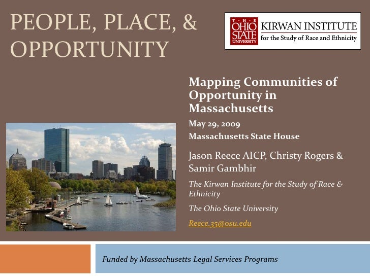 PEOPLE, PLACE, &OPPORTUNITY                              Mapping Communities of                              Opportunity i...