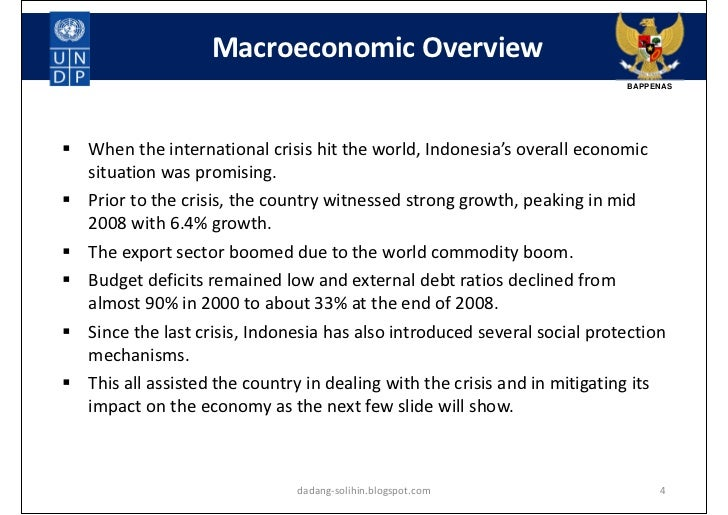 impact of global economic crisis Impact of the economic global crisis: current situation and prospects in the philippines asia in general was not affected by the current global financial crisis (1).