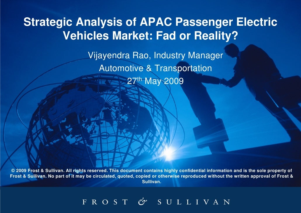 Strategic Analysis of APAC Passenger Electric              Vehicles Market: Fad or Reality?                               ...