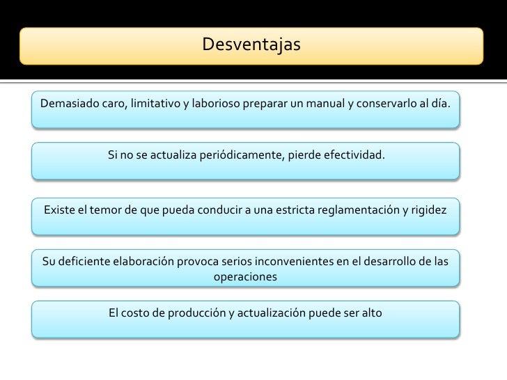 VENTAJAS ~ Los Manuales Administrativos