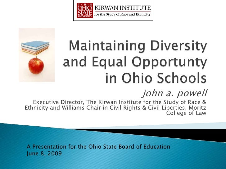 john a. powell   Executive Director, The Kirwan Institute for the Study of Race &Ethnicity and Williams Chair in Civil Rig...