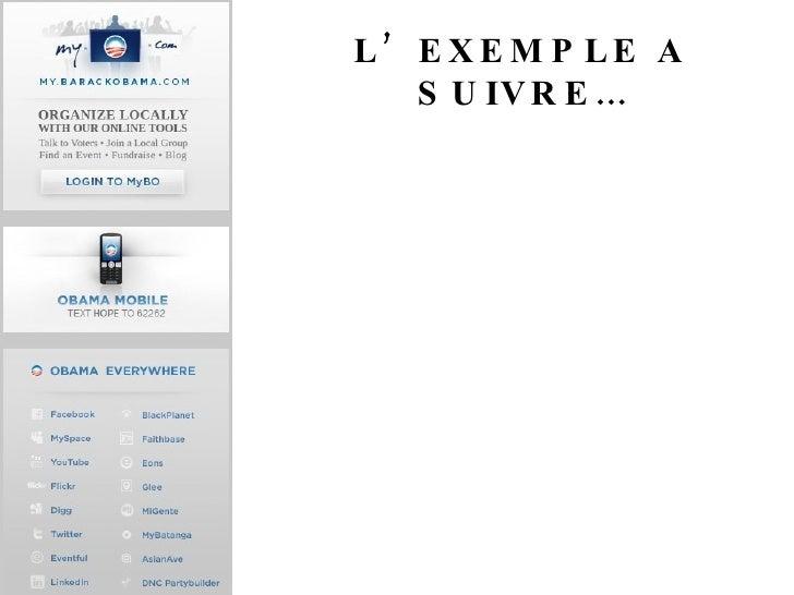 L'EXEMPLE A SUIVRE…