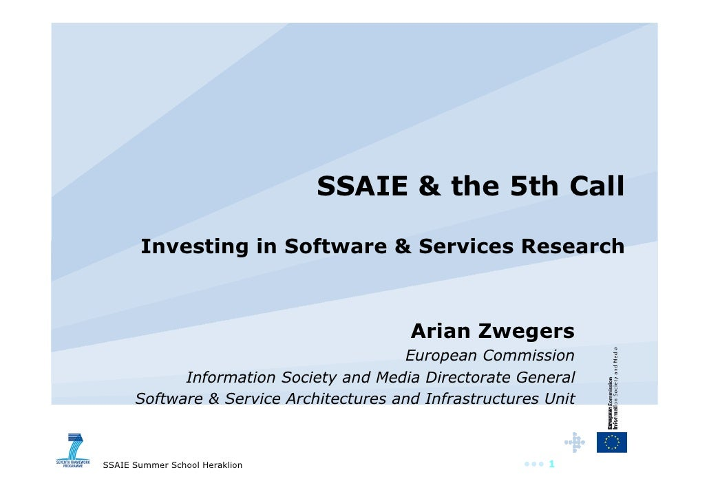SSAIE & the 5th Call         Investing in Software & Services Research                                             Arian Z...