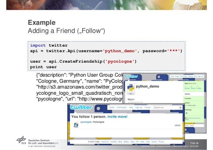 Twittering with Python