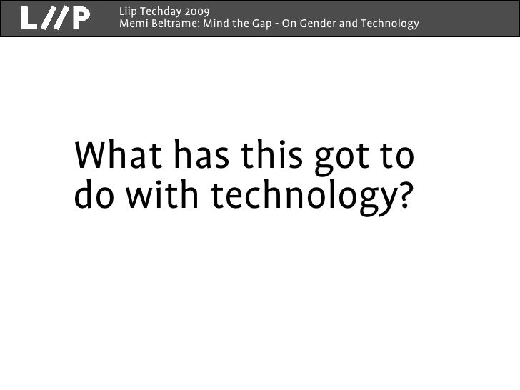 gender and technology Egm/st/2010/report gender, science and technology report of the expert group meeting ∗ organized by united nations division for the advancement of women.