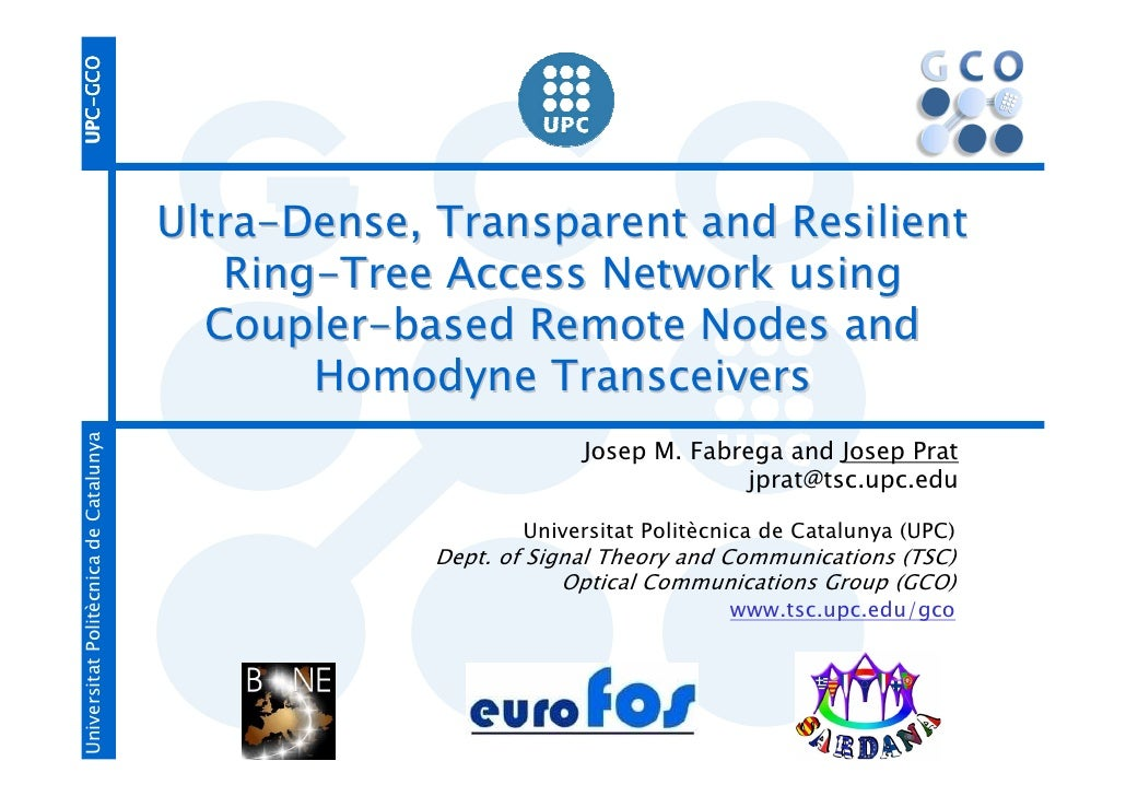 UPC-GCO UPC-                                            GCO                                        Ultra-Dense, Transparen...