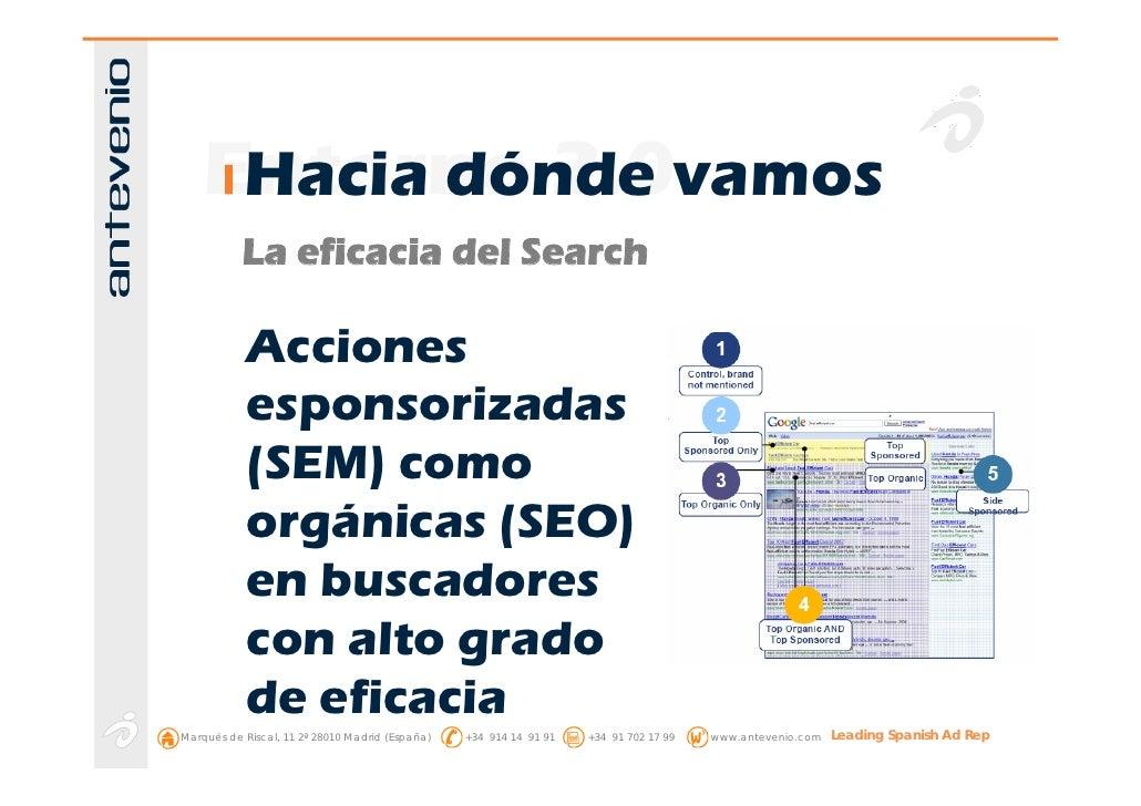 Entorno 2.0vamos      Hacia dónde            La eficacia del Search              Acciones             esponsorizadas      ...