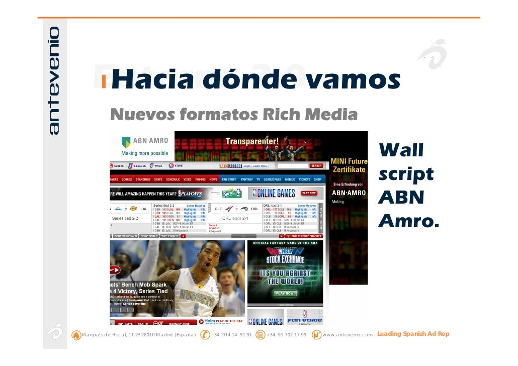 Entorno 2.0vamos      Hacia dónde            Nuevos formatos Rich Media                                                   ...