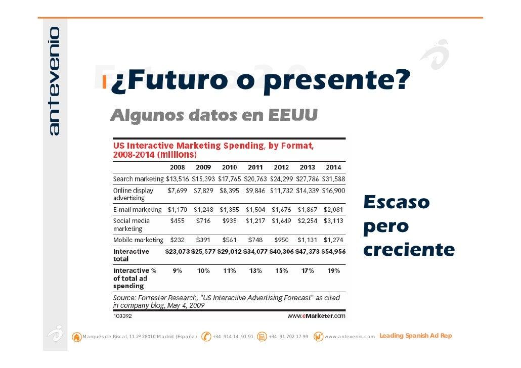Entornoo2.0      ¿Futuro presente?            Algunos datos en EEUU                                                       ...