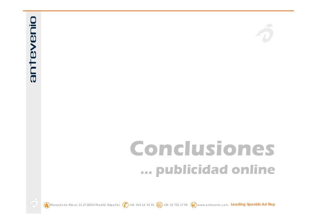 Conclusiones                                                         … publicidad online  Marqués de Riscal, 11 2ª 28010 M...