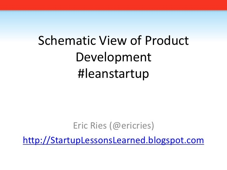 Schematic View of Product Development#leanstartup<br />Eric Ries (@ericries)<br />http://StartupLessonsLearned.blogspot.co...