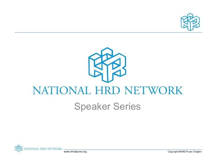 Speaker Series    www.nhrdpune.org        Copyright NHRD Pune Chapter