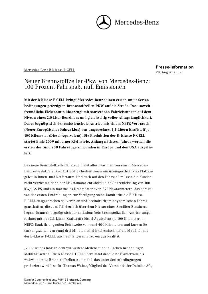 Presse-InformationMercedes-Benz B-Klasse F-CELL                                                                           ...