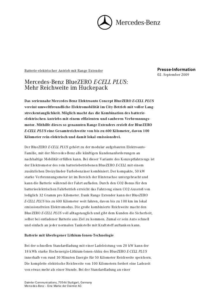 Batterie-elektrischer Antrieb mit Range Extender                                    Presse-Information                    ...