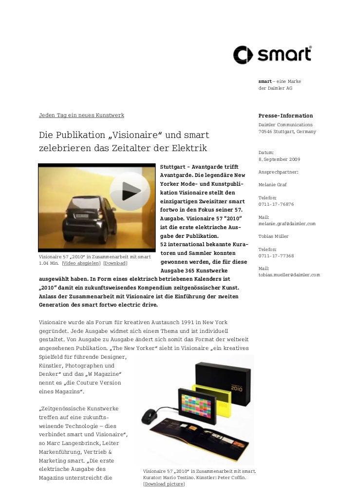 smart – eine Marke                                                                                           der Daimler A...