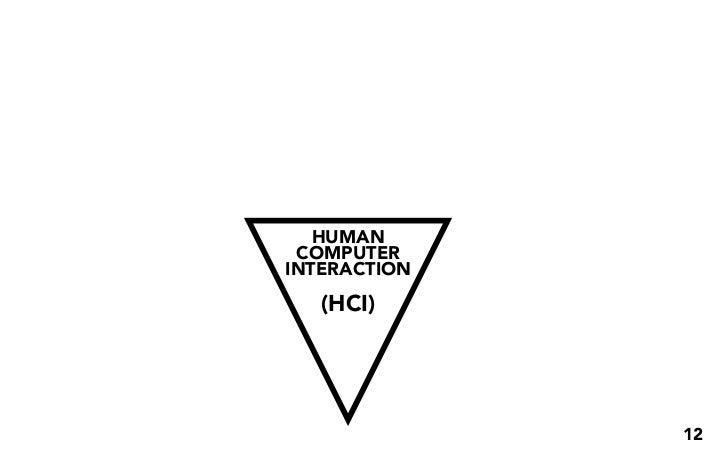 HUMAN  COMPUTER INTERACTION    (HCI)                   12