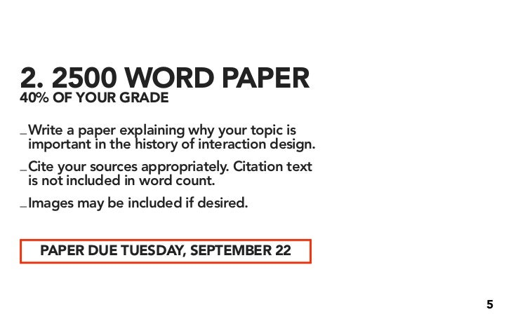 2 2500 word paper 40