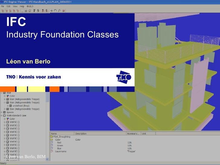 Léon van Berlo IFC Industry Foundation Classes