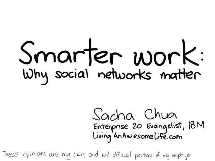 Smarter Work: Why Social Networks Matter