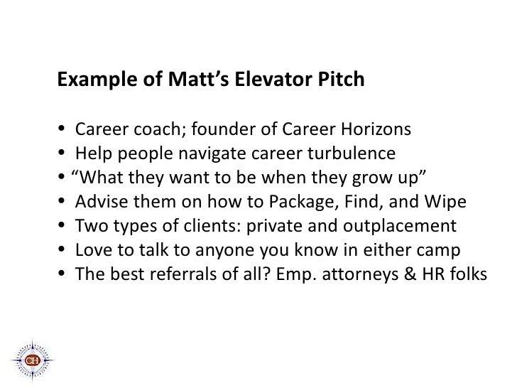 crafting a winning elevator pitch