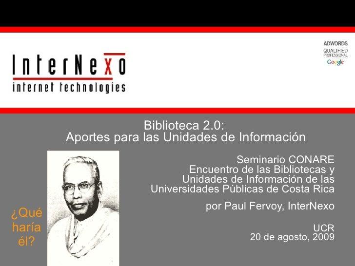 Seminario CONARE Encuentro de las Bibliotecas y Unidades de Información de las Universidades Públicas de Costa Rica por Pa...