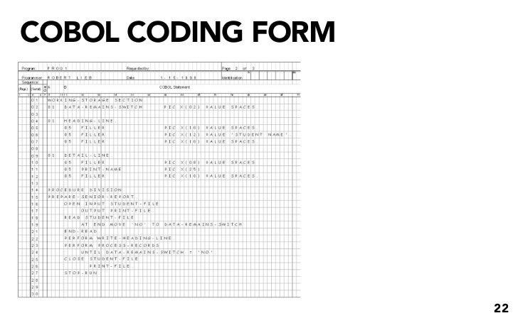 CODING FORM 22