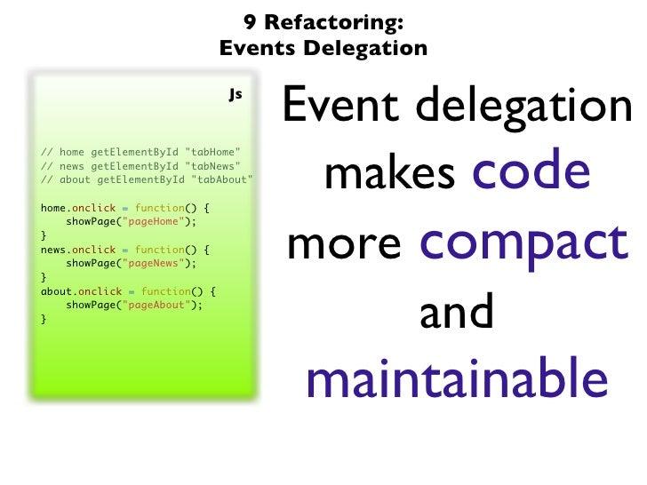 event delegation javascript