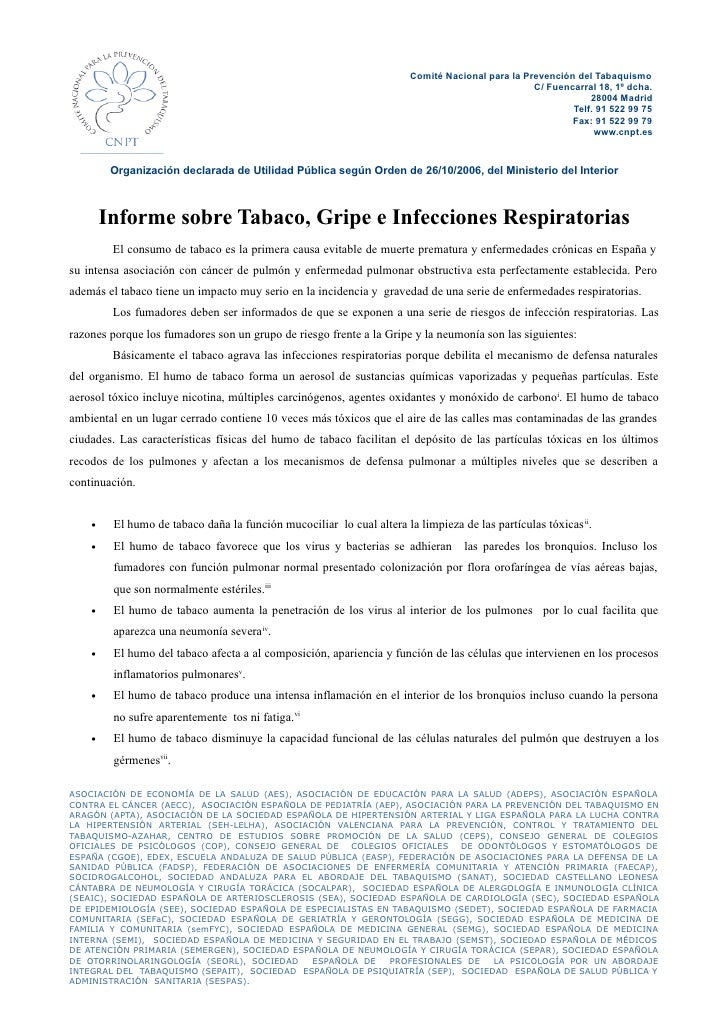 Comité Nacional para la Prevención del Tabaquismo                                                                         ...