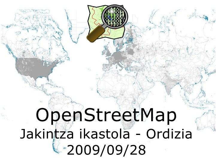 OpenStreetMap Jakintza ikastola - Ordizia 2009/09/28