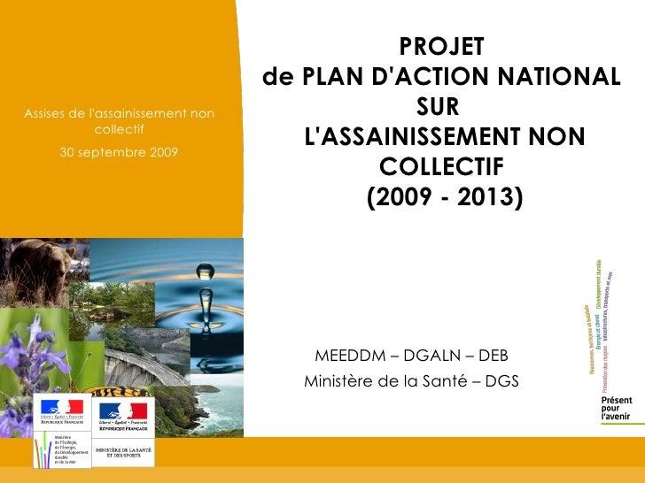 Projet de plan d action national sur l assainissement non for Projet de plan