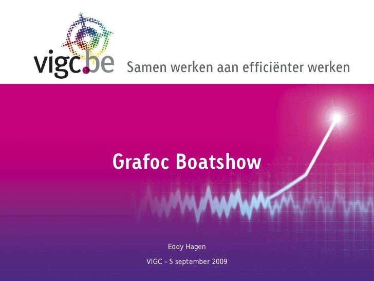 Samen werken aan efficiënter werkenGrafoc Boatshow          Eddy Hagen    VIGC – 5 september 2009