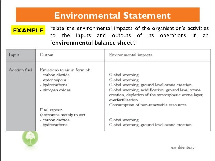 example of environmental policy This booklet aims to help you approach the question of how to develop sustainable practices in your business it focuses on practical steps from understanding sustainability in terms of business, looking at examples and scenarios, defining a set of guiding principles, and applying them into a business plan.