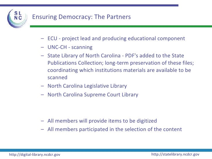 Digital Initiatives at the State Library of NC (NCLA