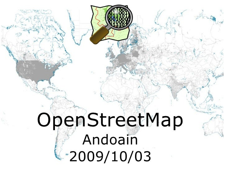 OpenStreetMap Andoain 2009/10/03