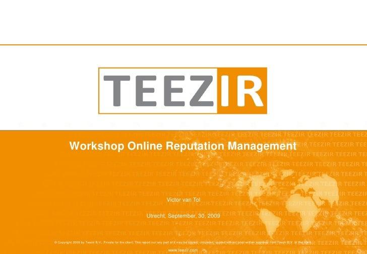 Workshop Online Reputation Management                                                                                   Vi...