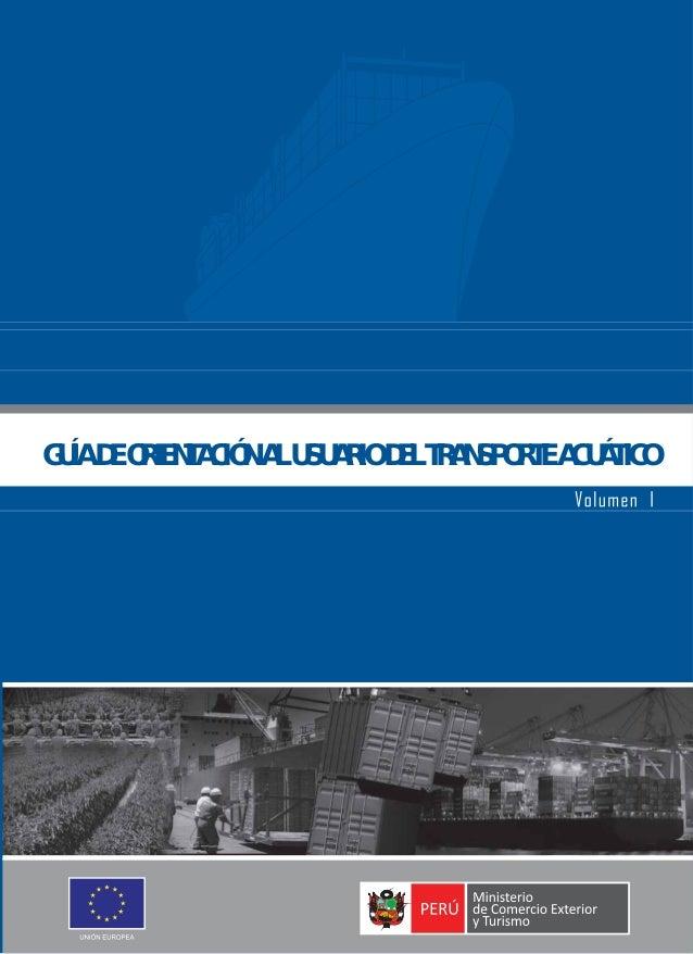 GUÍA DE ORIENTACIÓN AL USUARIO DEL TRANSPORTE ACUÁTICO