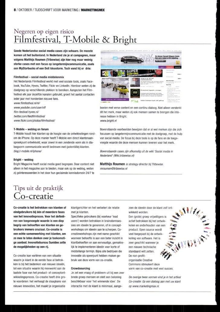 8 / OKTOBER          / TIJDSCHRIFT MARKETING                    VOOR       / MARÍEnilGMIX     T Negeren op elgen rlsrco Fi...