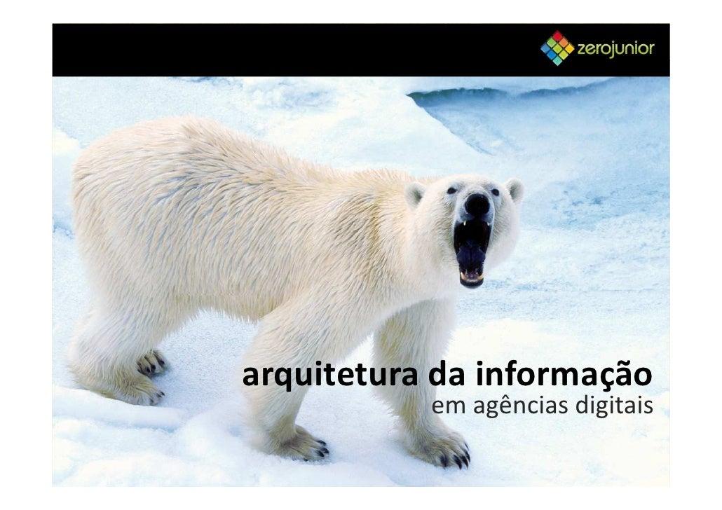 arquitetura da informação            em agências digitais