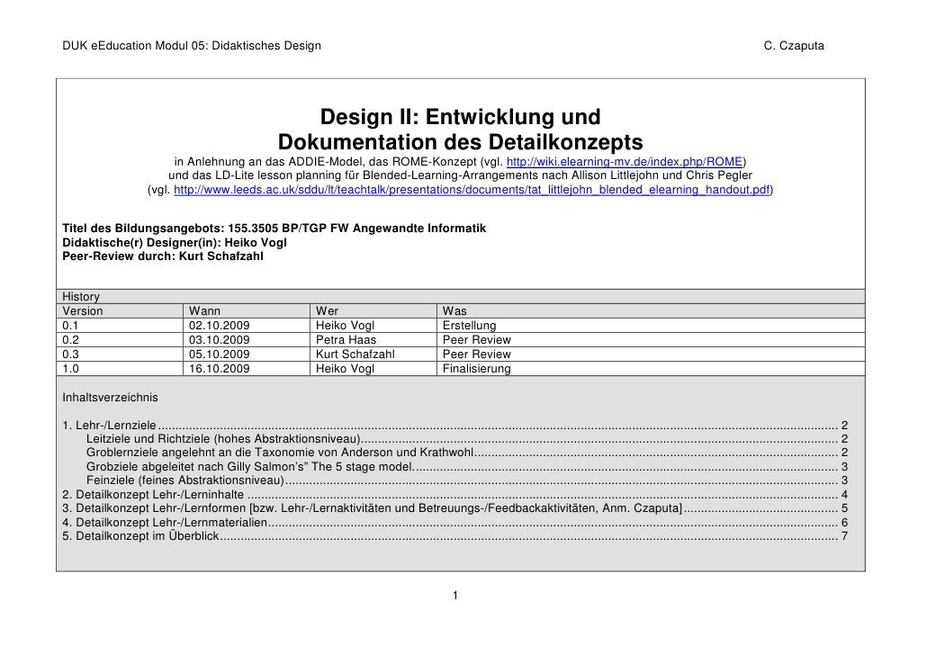DUK eEducation Modul 05: Didaktisches Design                                                                              ...
