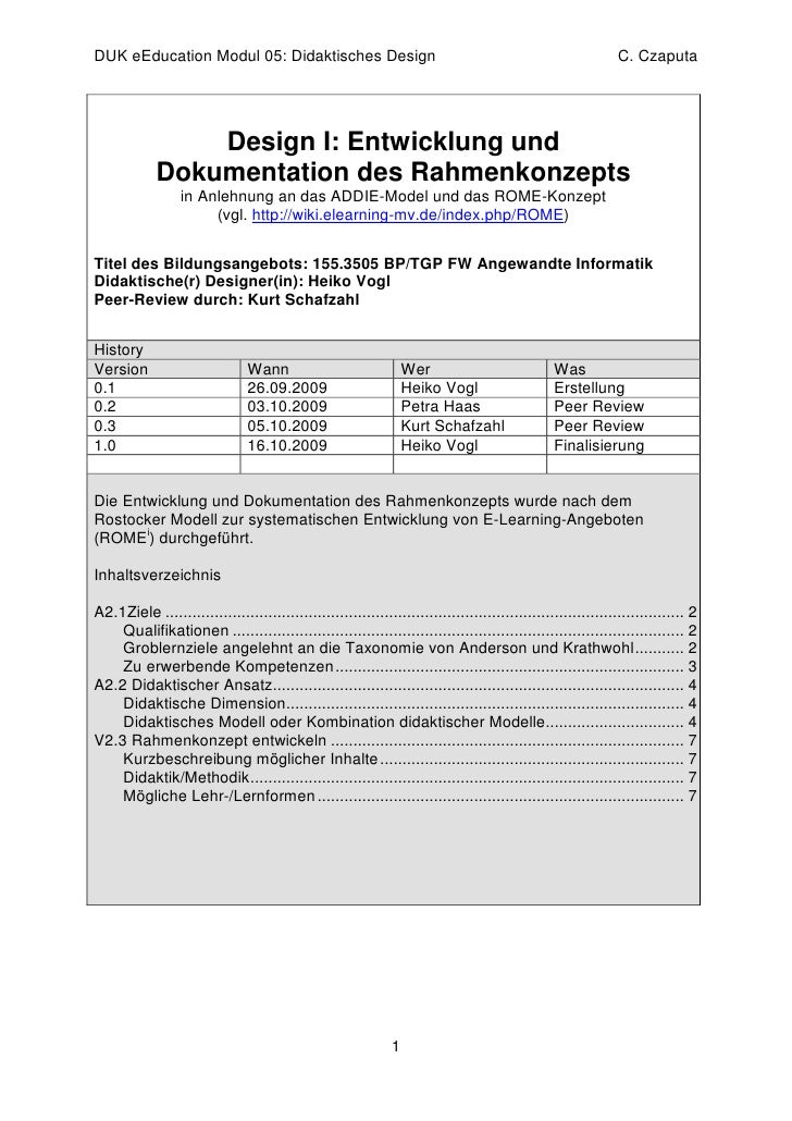 DUK eEducation Modul 05: Didaktisches Design                                                                   C. Czaputa ...