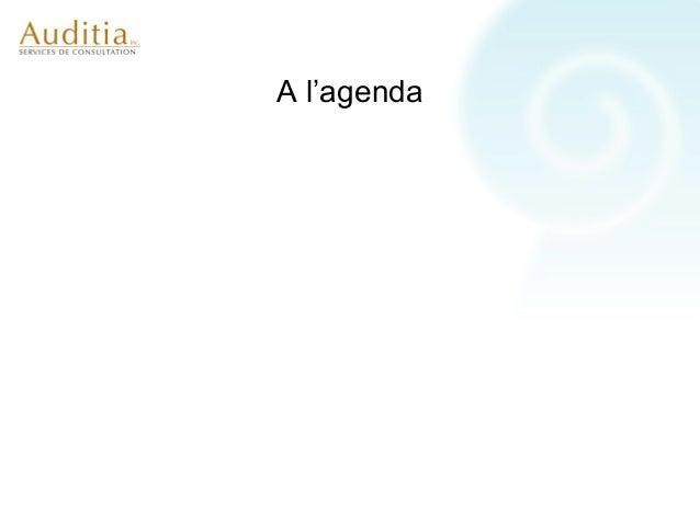 A l'agenda